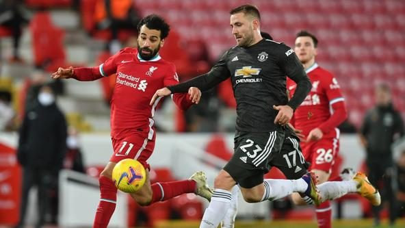 Fans in awe as Luke Shaw put in solid defensive display agianst Liverpool