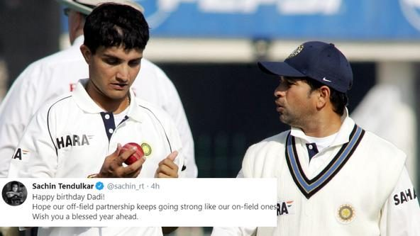 Birthday greetings from fellow cricketers pour in for Sourav Ganguly