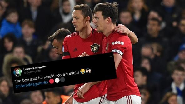 Harry Maguire told his brother how he'd score against Chelsea